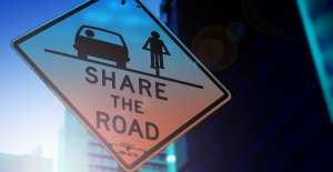 Share the road sign for motorists and bicylists.